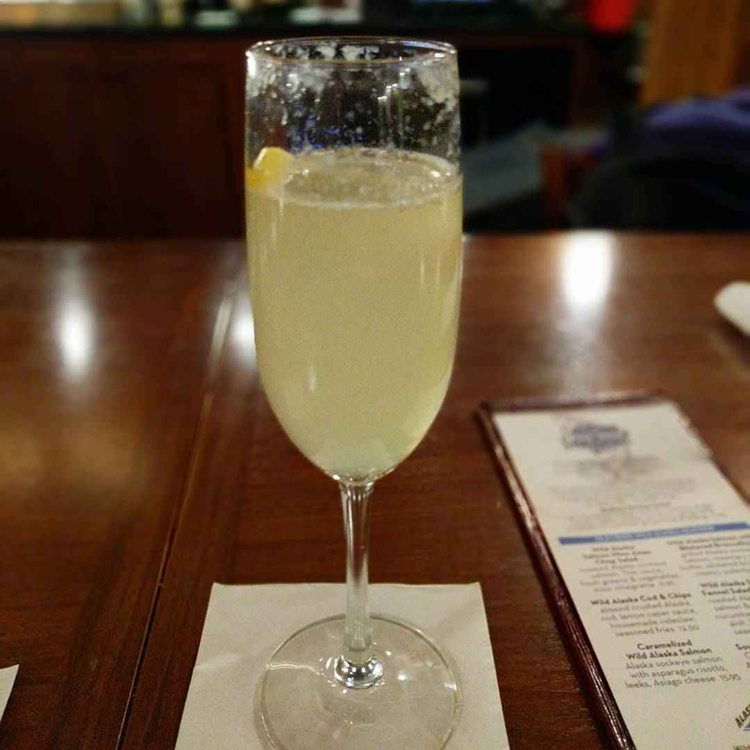 A very nice French 75 to start my dinner tonight.