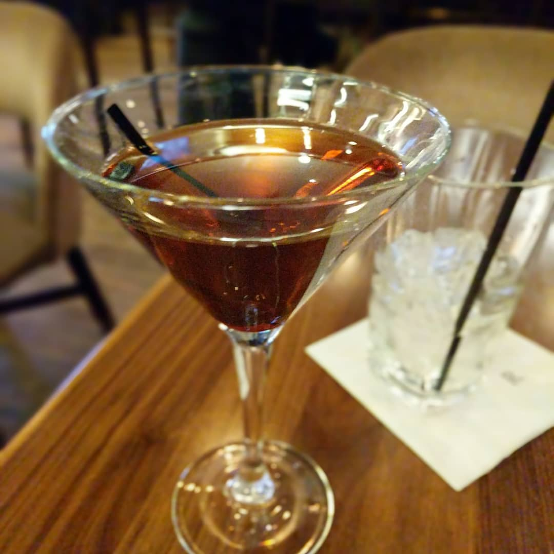 Another travel day, another cool drink… A Rob Roy in Minneapolis. In February. Yeah…