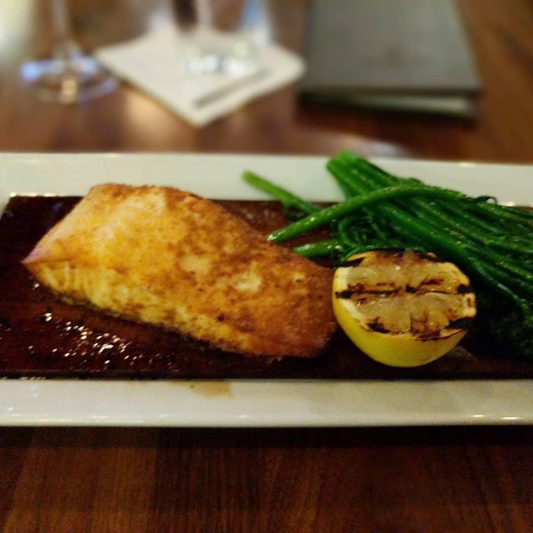 Dinner. Cedar plank salmon. Me like…