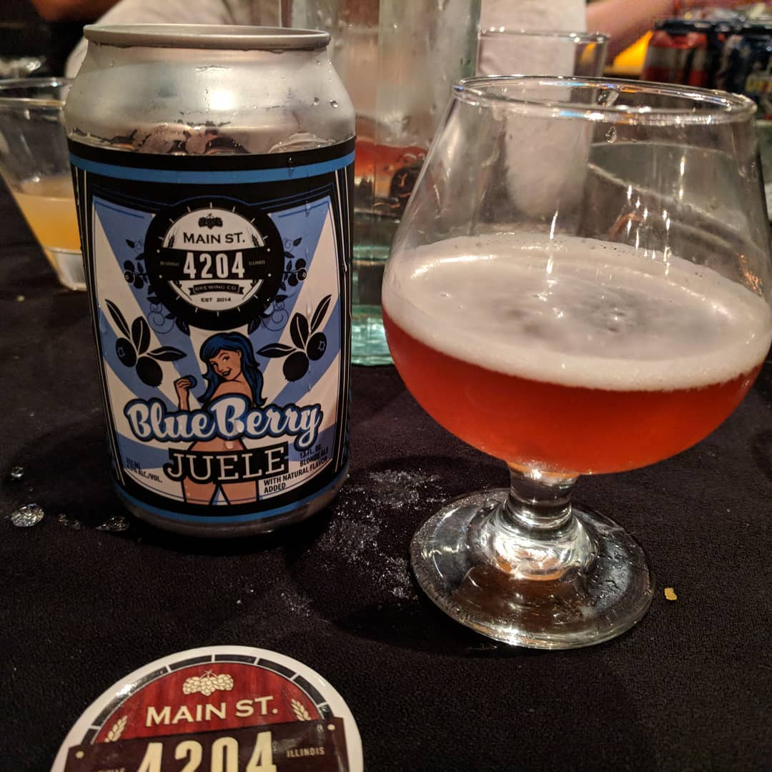 #4204mainstreetbrewing #craftedstl pairing dinner Blueberry Juele… Man this smells of blueberry and is awesome! #stlouis #craftedstl