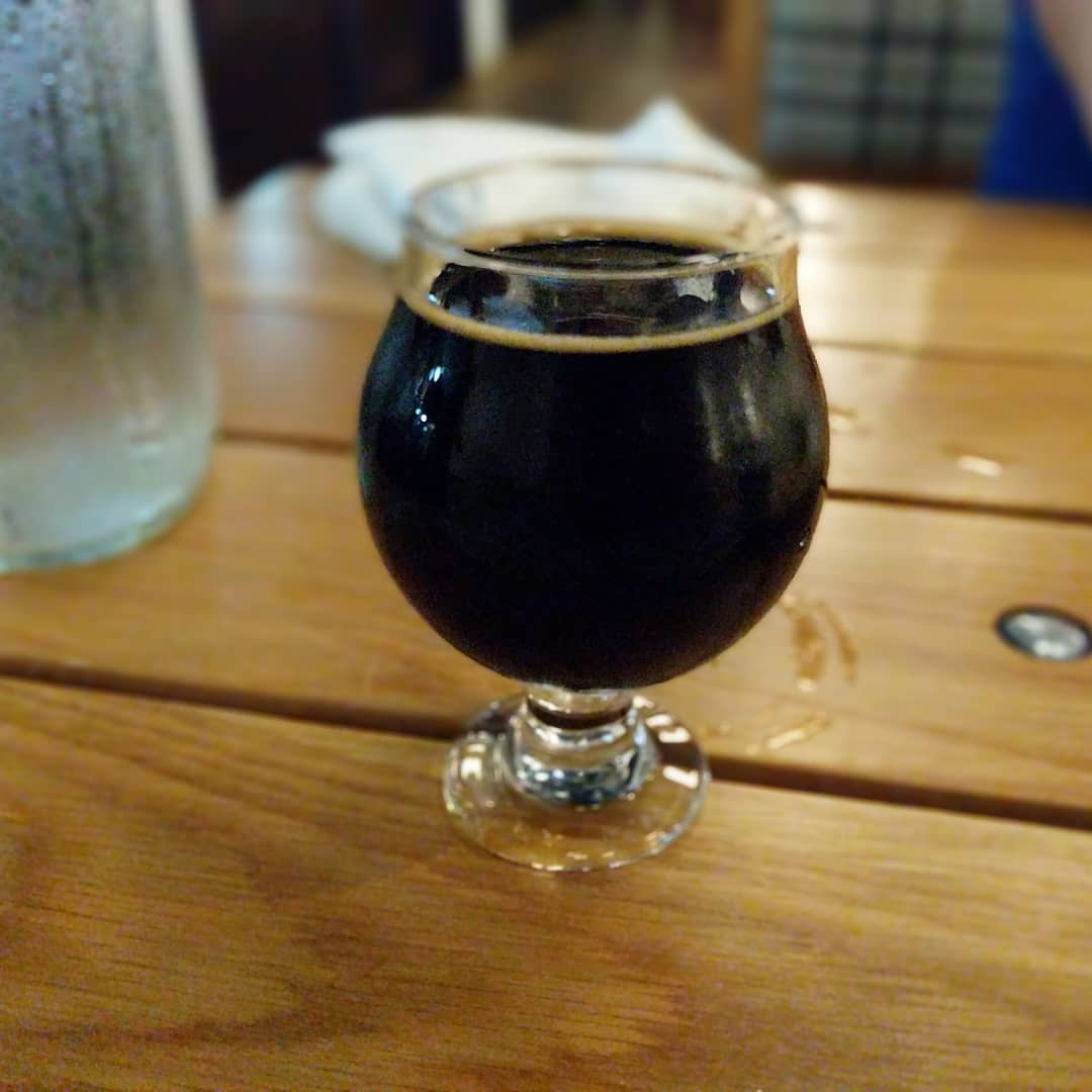 And dessert… A delicious Bourbon Barrel Aged Double Oatmeal Stout. Tastes like chocolate and good bourbon 😁