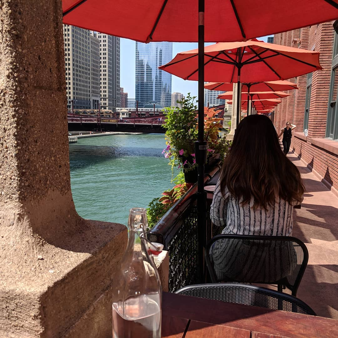 Definitely had worse places to sit and eat lunch #chicago