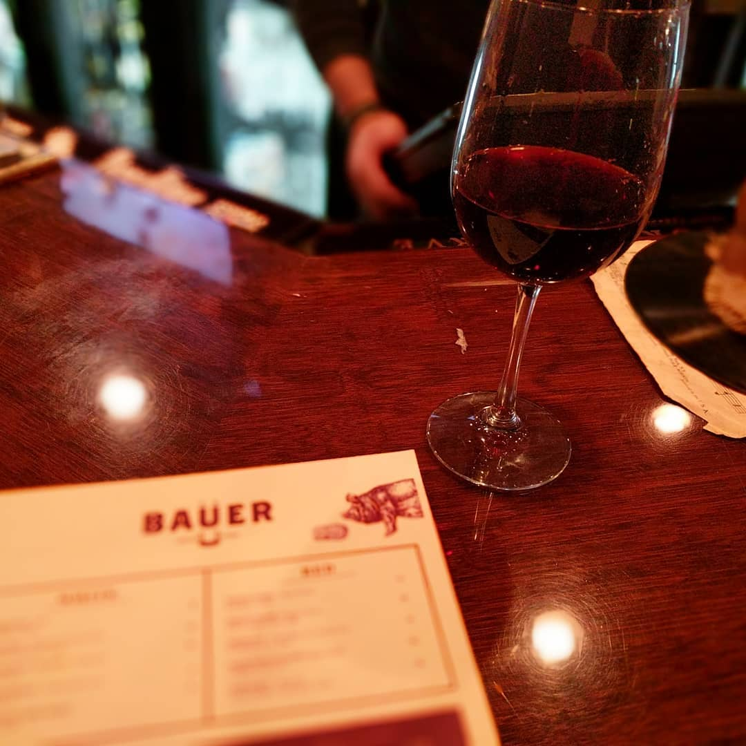 I have not had much #foodporn this week despite traveling… So tonight visiting one of my favorite haunts in Cincinnati; Bauer Farm Kitchen.  Start with a lovely Montepulciano.