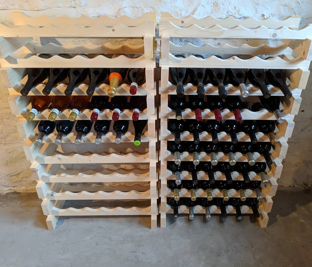 I think I might have a problem… … That problem being too much empty space in my newly assembled wine racks… #citylife #stlouis #comptonheights