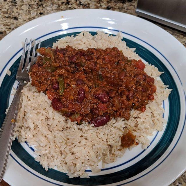 Mmm… Homemade chilli con carne.