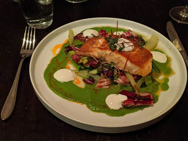 Salmon entree @the_bellwether_stl #stlouis #citylife
