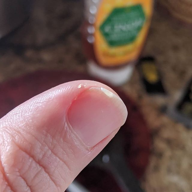 Well that was a close call while chopping onions for a chilli this morning…