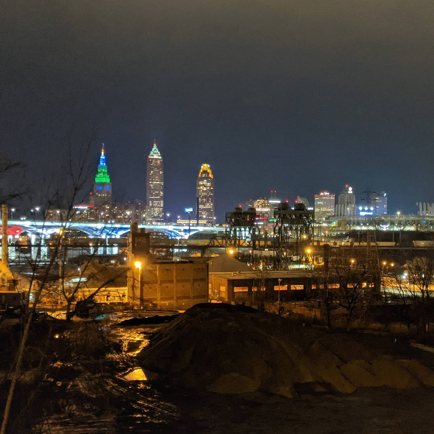 From my walk last night. A night shot of Cleveland Ohio from Tremont. #cleveland