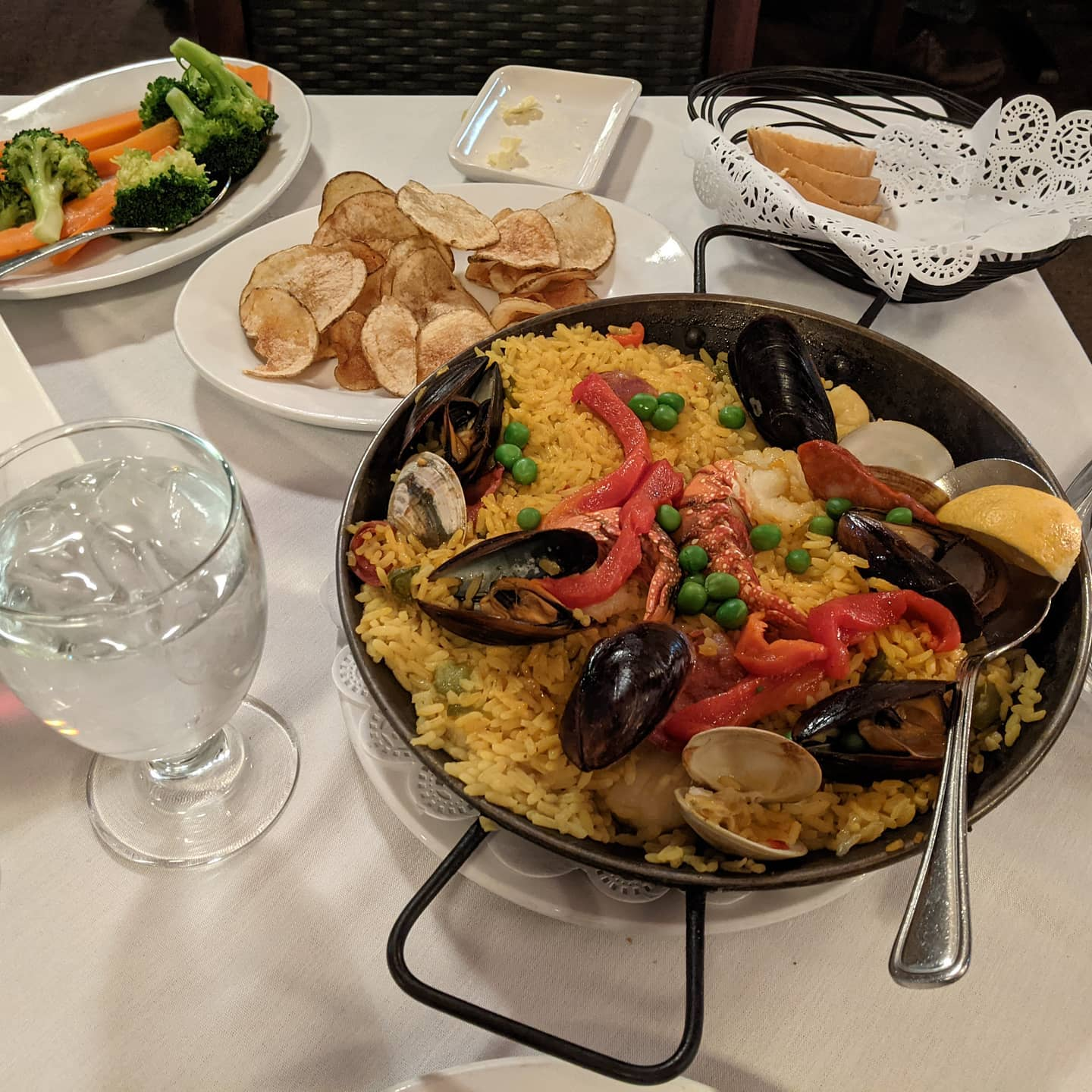 Well, if I leave here hungry I'm doing something wrong. Omg this is amazing paella. #foodporn #mallorcacleveland