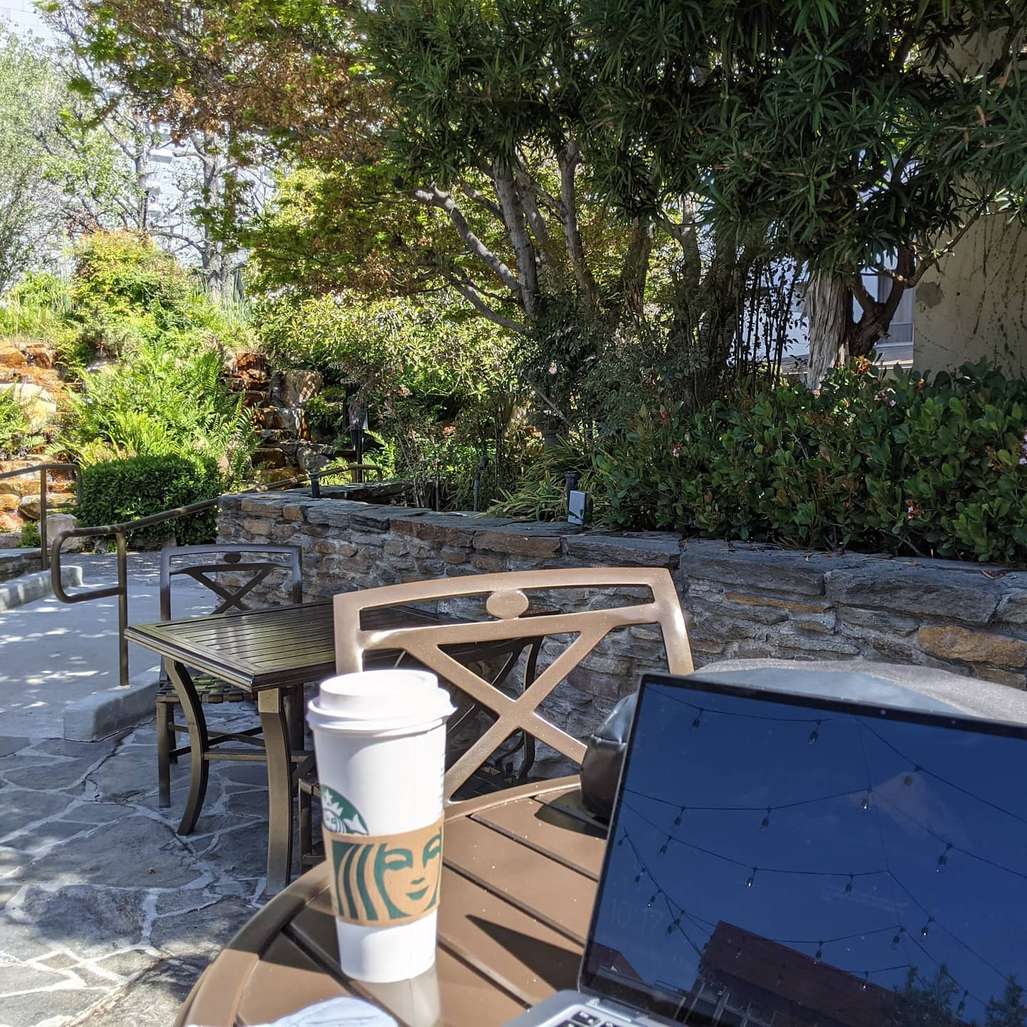 As work spaces go there are definitely worse places to sit #kyotogardens #losangeles #consultantlife