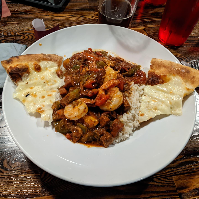 Missed posting this last night. Delicious Jambalaya at #royaloakbrewingco . Good #foodporn