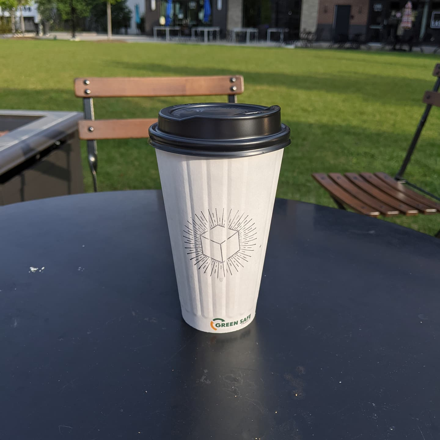 Ahhh... Morning coffee in Dearborn before a long work day. It is really nice this morning. #blackboxcoffee #detroit
