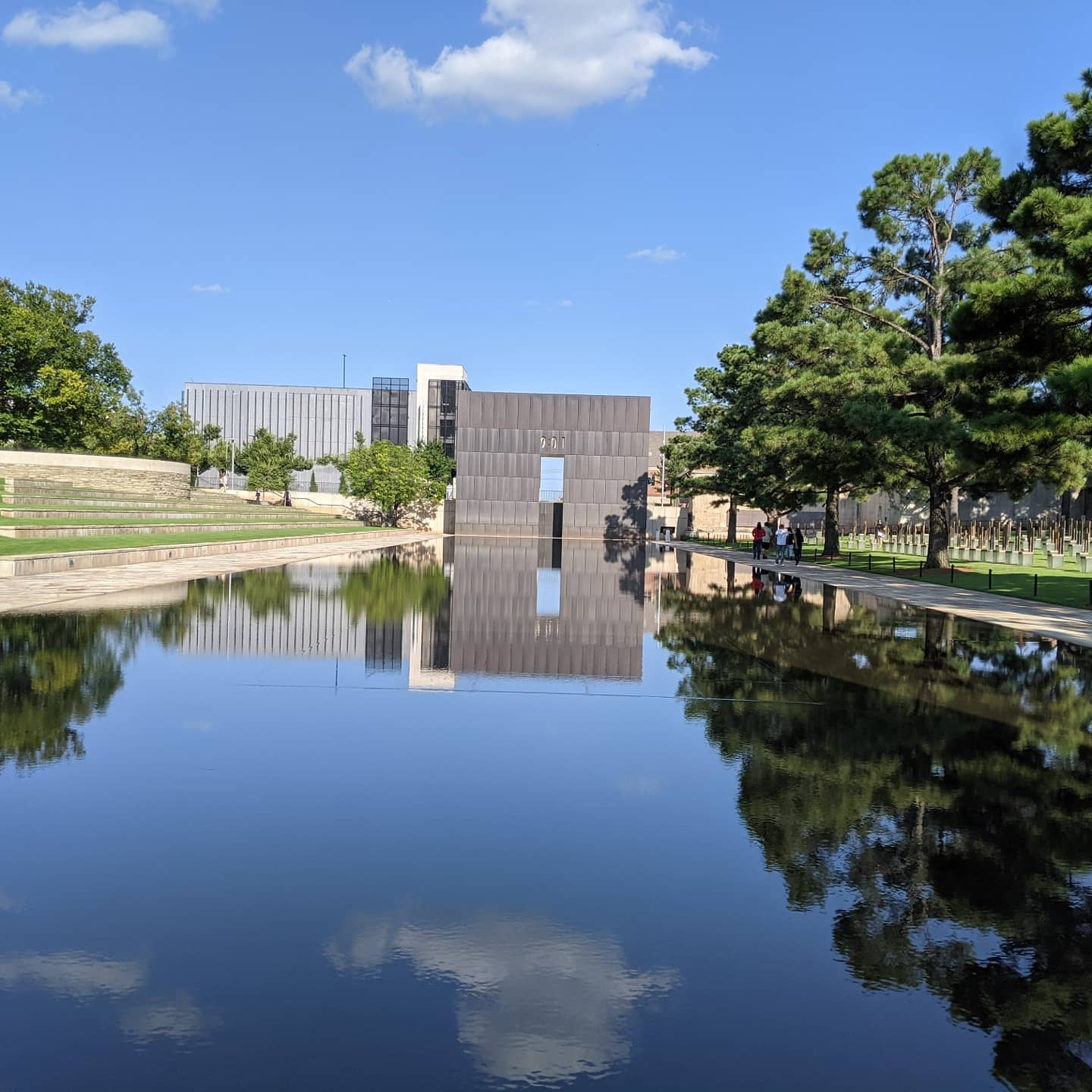 It occured to me that in all the times I've been here since I lived here, not once have I made it to the Murrah building memorial.  #oklahoma